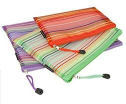 Travelon Luggage Set of 3 mesh Pouches, Multicolor