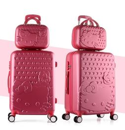 Hello Kitty Luggage Set Suitcase Cosmetic Bag 14 20 24 inche