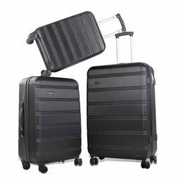 REYLEO Luggage Sets 3 Piece Hard Shell Luggage Set with USB