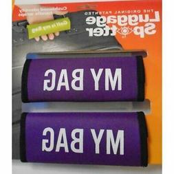 Luggage Spotter My Bag Purple Neoprene Luggage Handle Wraps