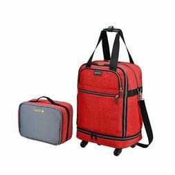 "Biaggi Luggage Zipsak 22"" Microfold Carry On Duffle Red NWT"