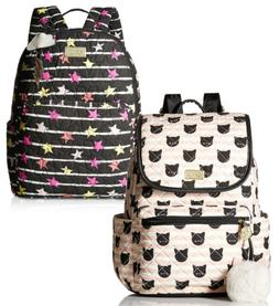 Luv Betsey Johnson Large Cotton Travel Luggage Backpack Purs