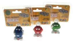 M&M Luggage Locks Blue Red Green TSA Approved MM Candies Set