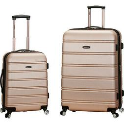 melbourne 2 piece spinner luggage set