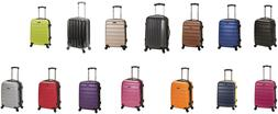 """Melbourne 20"""" Expandable Carry On Travel Rolling Wheel Hard"""
