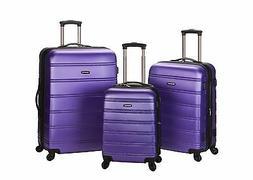 Melbourne 3 Piece Hard Luggage Set ABS - Purple New