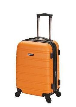 "Rockland Melbourne 20"" Expandable ABS Orange Carry-On"