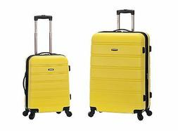 Melbourne 2 Pc Expandable ABS Spinner Luggage Set