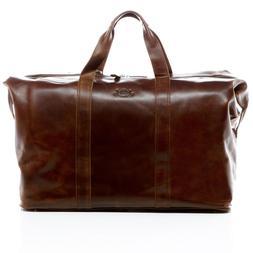 Men's Large Leather Gym Weekend Luggage Travel Duffle Bag Ha