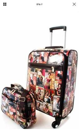 Michelle Obama  Multi Color 2 piece carry on luggage with 36