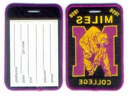 MILES COLLEGE Luggage ID Tags  Embroidered Large