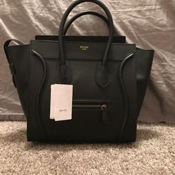 CELINE Mini Luggage In Black Smooth Calfskin Leather