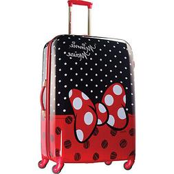 "Disney Minnie Mouse Red Bow 28"" Hardside Spinner Suitcase by"