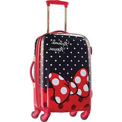 "Disney Minnie Mouse Red Bow 21"" Hardside Spinner Suitcase by"