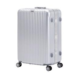 Modern Deluxe Aluminum 24'' Luggage Travel Bag Trolley S