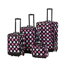 Rockland 4-pc. Multi Pink Dot Luggage Set