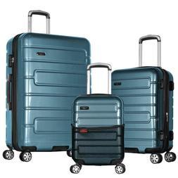 Olympia Nema 3-Piece Exp. Hardcase Spinner Luggage Set with