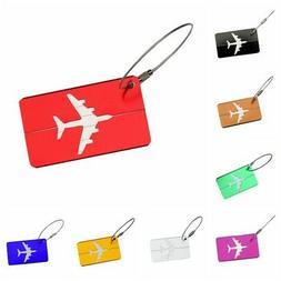 New Aluminium Luggage Tags Suitcase Label Name Address ID Ba