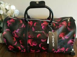 NEW Bebe Aria Weekender Duffel Travel Bag Black Pink Purple
