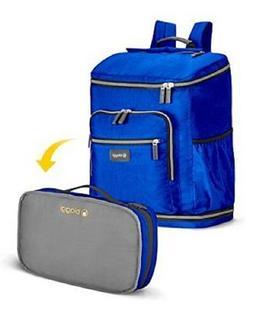 New Biaggj Navy Blue Zipsak Backsak Foldable Travel Backpack