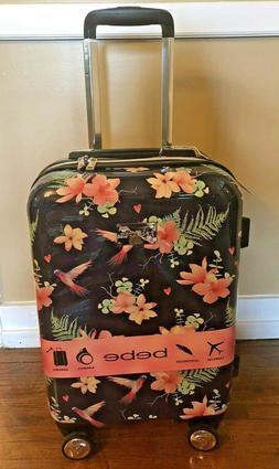 "NEW! BeBe Floral  Hummingbird 21"" Hardside Spinner Carry-On"
