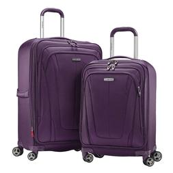 NEW Samsonite Gray GT Dual 2-piece Softside Luggage Suitcase