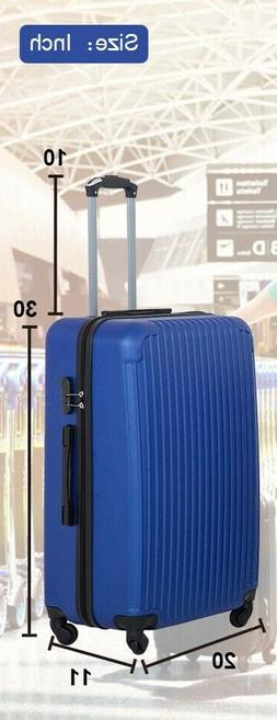 New Large Luggage Travel Bag ABS Trolley Suitcase Blue Color