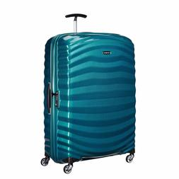 "NEW Samsonite Lite Shock 30"" PETRO BLUE Carry on Luggage 4-w"