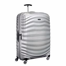 "NEW Samsonite Lite Shock 30"" SILVER Carry on Luggage 4-wheel"
