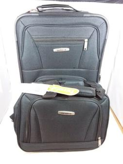 NEW Rockland Luggage 19 Inch Expandable Spinner Carry On, Bl