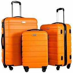 new luggage 3 piece set suitcase spinner