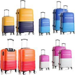 New Luggage Set Travel Hard Spinner Hardside Shell Suitcase