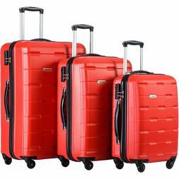 New Merax Omni 3 Piece Luggage Lightweight Spinners  Telesco