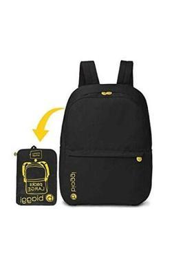 new paksak packable backpack black