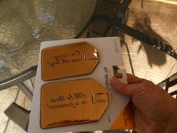NEW Miamica Women's 2 Piece Set Luggage Tag, Gold