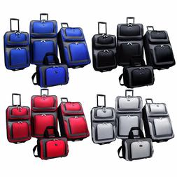 New Yorker 4-Piece Light Expandable Rolling Luggage Suitcase