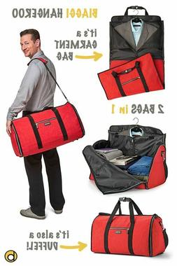 New Biaggi Zipsack Hangeroo Black 2 In 1 Garment & Duffel Ba