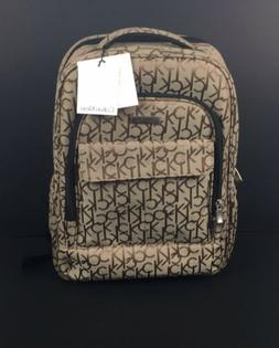nwt beige khaki monogram travel backpack luggage