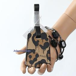 NWT Coach x Baseman Men's Wild Beast Leopard Print Leather L