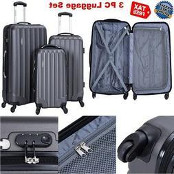 ON SALE 3 Piece Spinner Wheel Suitcase Men Luggage Set Hards