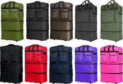 "Pack of 2 30""/36""/40"" Expandable Rolling Duffel Wheeled Spin"
