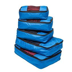 TravelWise Packing Cube System - Durable 5 Piece Weekender+