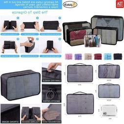 Packing Cubes For Travel Accessories Compression Luggage Org