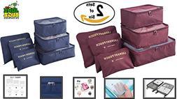 Travel Packing Cubes- JuneBugz Luggage Organizers + Laundry