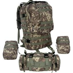 Extreme Pak 4pc Digital Camo Backpack with US Shelby P51 Mil