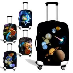 Planet Women Men Luggage Cover Suitcase Protector Case Cute