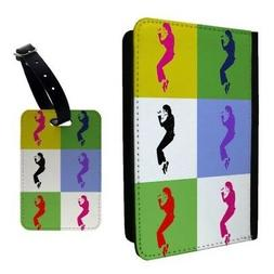 Pop Art Michael Jackson Luggage Tag &/OR Passport Holder - A