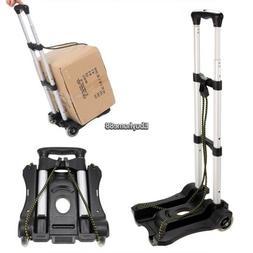 Portable Folding Aluminum Hand Truck Trolley Luggage Cart Fo