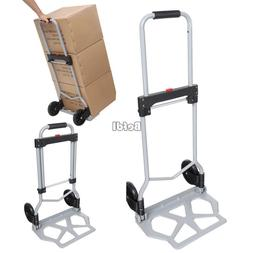 Portable Folding Hand Truck Dolly Luggage Carts Silver 220lb