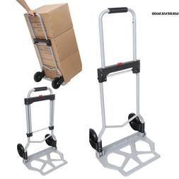 Portable Folding Hand Truck Dolly Luggage Carts 220 lbs Rubb